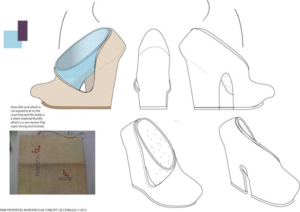 flax shoe drawing idea